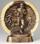 Resin Plate -Football Male Football Trophy Awards
