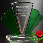 Phantasia Award Green Optical Crystal Awards
