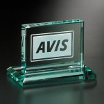 Huntington Rectangle Green Optical Crystal Awards