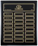 Ebony Finish Perpetual Plaque Medium Perpetual Plaques