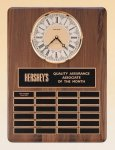 American Walnut Vertical Wall Clock / Perpetual Plaque Medium Perpetual Plaques