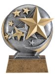 Motion X 3-D -Stars Motion X Action 3D Resin Trophy Awards