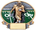 Motion X Oval -Football Male  Motion X Oval Resin Trophy Awards
