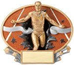Motion X Oval -Track Male  Motion X Oval Resin Trophy Awards