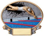 Motion X Oval -Swimming Female Motion X Oval Resin Trophy Awards