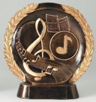 Resin Plate -Music Music Trophy Awards