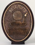 Best Putts Oval Oval Resin Trophy Awards