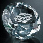 Diamond Paperweight Paper Weight Crystal Awards