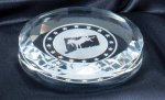 Crystal Round Paper Weight 3.5 Paper Weights