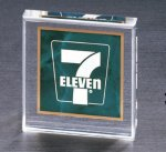 Emerald Marble Square Acrylic Paper Weight Paper Weights