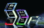 Slanted Hex Paper Weight Acrylic Award Paper Weights