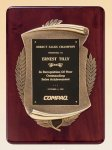Rosewood Piano Finish Plaque with Antique Bronze Casting Piano Finish Plaques
