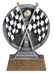 Motion X 3-D -Crossed Flags Racing Trophy Awards
