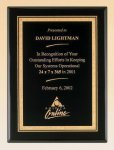 Black Piano Finish Plaque with Brass Plate Recognition Plaques