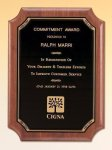 American Walnut Plaque Recognition Plaques