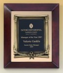 Cherry Finish Wood Frame Plaque with Wreath Recognition Plaques