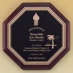 Octagonal Rosewood Piano Finish Plaque Recognition Plaques