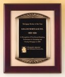 Rosewood Piano Finish Plaque Cast Frame Recognition Plaques