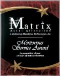Red Marble Shooting Star Acrylic Award Recognition Plaque Sales Awards