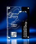 Circle Cutout Clear and Black Acrylic Award Sales Awards