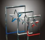 Star Cut-Out Acrylic Award Sales Awards