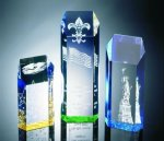 Hexagon Top Tower Acrylic Award Sales Awards