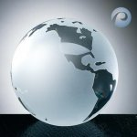 Frosted Ocean World Globe Sales Awards