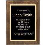 Two Step Solid Walnut Plaque Sales Awards