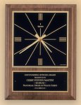American Walnut Vertical Wall Clock with Square Face. Secretary Gift Awards
