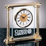 Glass Mantel Clock Secretary Gift Awards