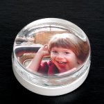 Round Paper Weight with Insert Secretary Gift Awards