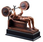 Bench Press Signature Black Resin Trophy Awards