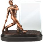 Baseball, Male Sport Trophy Signature Black Resin Trophy Awards