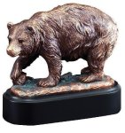 Bear Signature Black Resin Trophy Awards