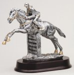Jumper Horse, Female Signature Rosewood Resin Trophy Awards