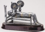 Weightlifting Bench, Male Signature Rosewood Resin Trophy Awards