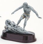 Wave Surfer, Male Signature Rosewood Resin Trophy Awards