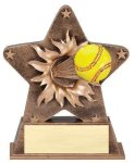 Star Burst Resin -Softball Softball Trophy Awards