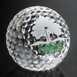 Clipped Golf Ball Sport Crystal Awards