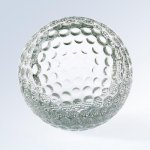 Golf Ball (Slanted Front) Sport Crystal Awards