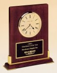 Desk Rosewood Piano Finish Clock Square Rectangle Awards