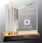 Star Column with Acrylic Plaque Star Acrylic Awards