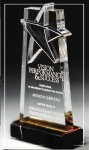 Gold Lasered Star Accent On Base Star Acrylic Awards