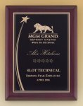 Shooting Star Rosewood Piano Finish Plaque Star Awards