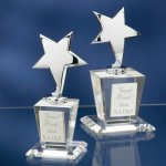 Chrome Stars with Crystal Bases Star Cast Awards