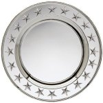 Round Plate Silver With Stars Trays
