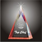 Multi Faceted Pyramid Acrylic Award Triangle Awards