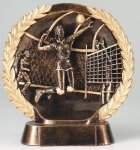 Resin Plate -Volleyball Female Volleyball Trophy Awards