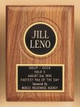 American Walnut Plaque with Routed Disk Area Walnut Plaques