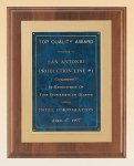 American Walnut Plaque with Gold Embossed Frame Walnut Plaques
